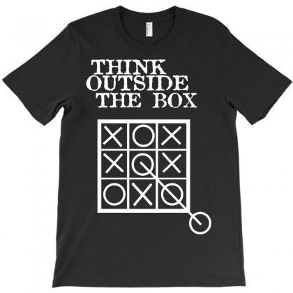 Think Outside The Box Noughts And Crosses T-shirt Designed By Mdk Art