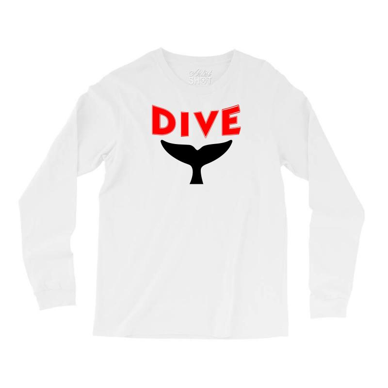 8d57cd1c Custom Whale Design Scuba Dive Ladies Long Sleeve Shirts By Mdk Art ...