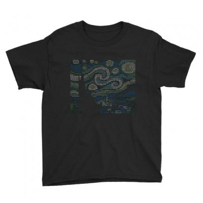 Ascii Night Youth Tee Designed By Mdk Art
