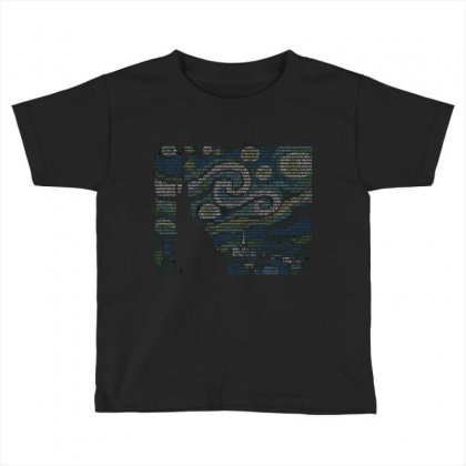 Ascii Night Toddler T-shirt Designed By Mdk Art