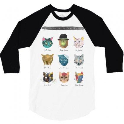 Art & Meow 3/4 Sleeve Shirt Designed By Mdk Art