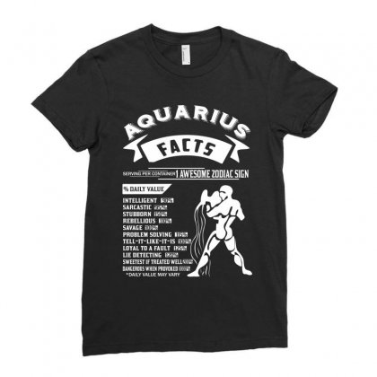 Aquarius Hoodies Aquarius Facts Serving Per Container 1 Awesome Zodiac Ladies Fitted T-shirt Designed By Designbycommodus
