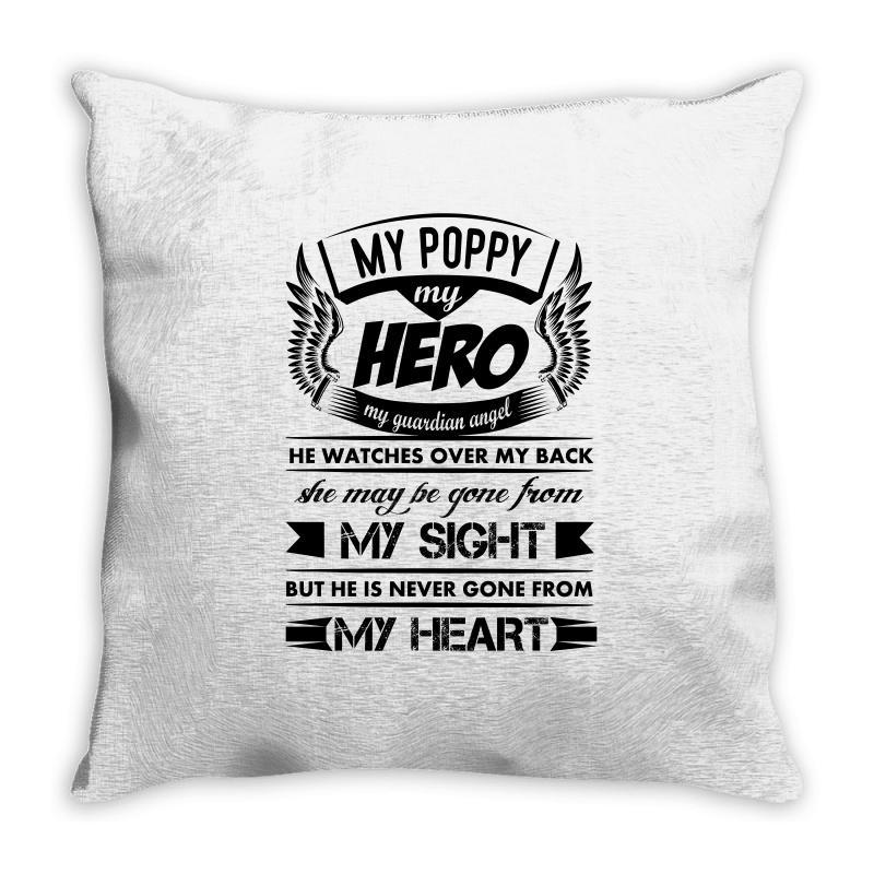 5480f1ed Custom My Hero My Poppy Throw Pillow By Kasemdesign - Artistshot