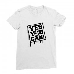 yes u can Ladies Fitted T-Shirt | Artistshot