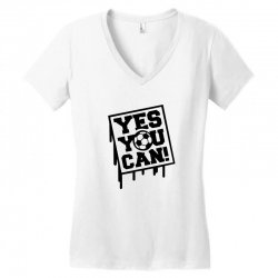 yes u can Women's V-Neck T-Shirt | Artistshot