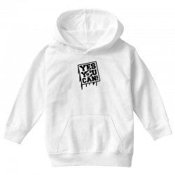 yes u can Youth Hoodie | Artistshot