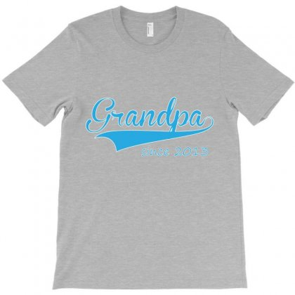 Grandpa Since 2013 T-shirt Designed By Costom