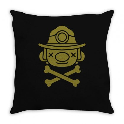 Spelunky   Miner Throw Pillow Designed By Mdk Art