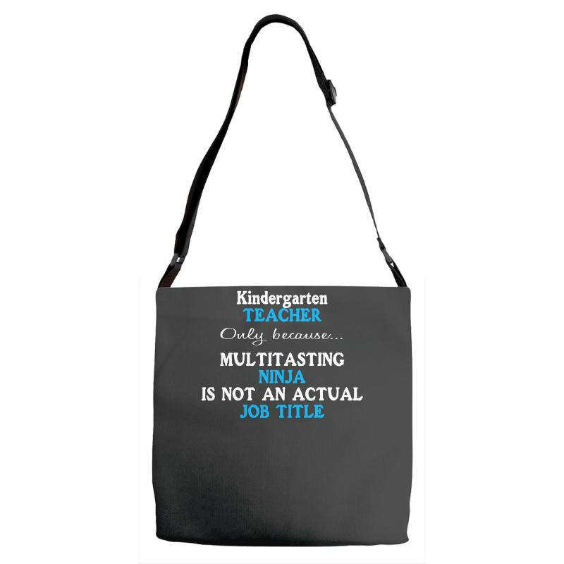Funny Kindergarten School Teacher Appreciation Adjustable Strap Totes  By  Artistshot