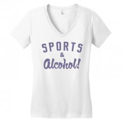 sports and alcohol! Women's V-Neck T-Shirt | Artistshot