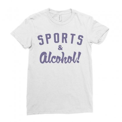 Sports And Alcohol! Ladies Fitted T-shirt Designed By Mdk Art
