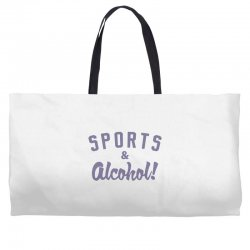 sports and alcohol! Weekender Totes | Artistshot
