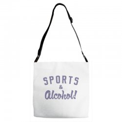 sports and alcohol! Adjustable Strap Totes | Artistshot
