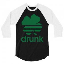 st patricks day drunk 3/4 Sleeve Shirt | Artistshot
