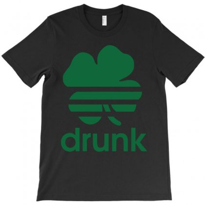 St Patricks Day Drunk T-shirt Designed By Mdk Art