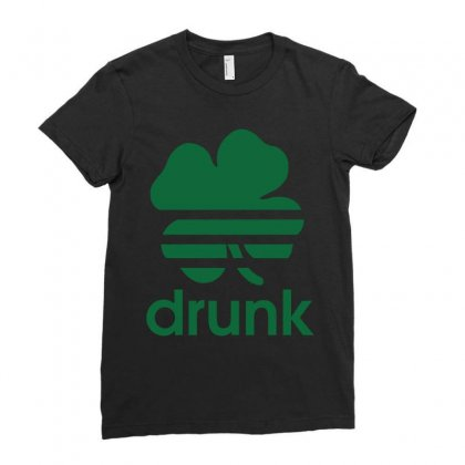 St Patricks Day Drunk Ladies Fitted T-shirt Designed By Mdk Art