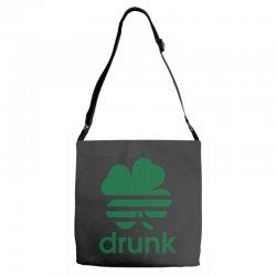st patricks day drunk Adjustable Strap Totes | Artistshot