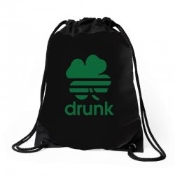 st patricks day drunk Drawstring Bags | Artistshot