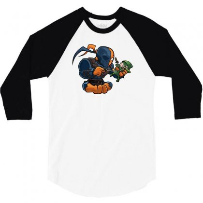 Stabby Stabby Stabby 3/4 Sleeve Shirt Designed By Mdk Art