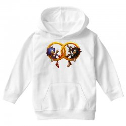 Sonic and Shadow Youth Hoodie | Artistshot