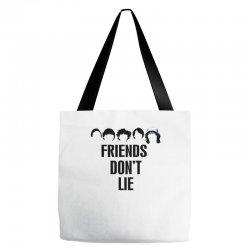 Custom Stranger Things - Friends Don t Lie Tote Bags By Rardesign ... b4d04eef6f776
