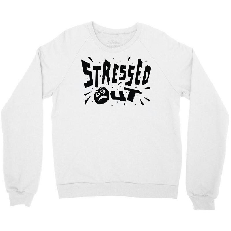 54deedb3 Custom Stressed Out Crewneck Sweatshirt By Mdk Art - Artistshot