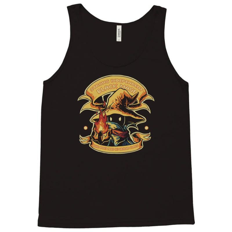 Custom Strong Independant Black Mage Tank Top By Robb Store Artistshot
