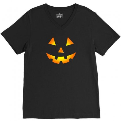 Halloween V-neck Tee Designed By Rendratedjo