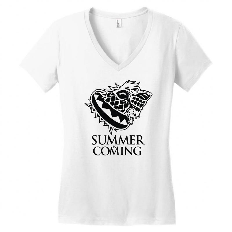 58eac2d6cc05 Custom Summer Is Coming Women s V-neck T-shirt By Mdk Art - Artistshot