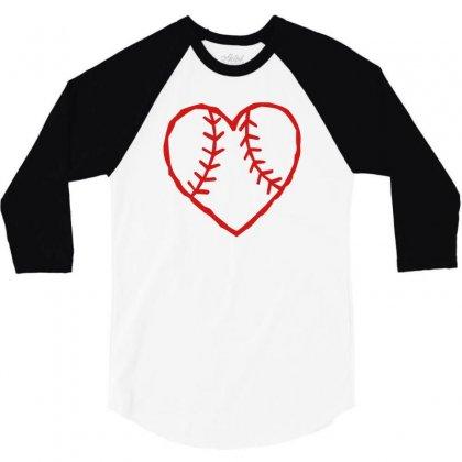 Heart 3/4 Sleeve Shirt Designed By Rendratedjo
