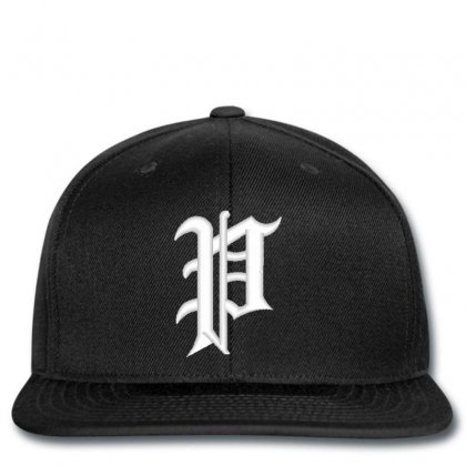 Old English Style Initial Letter P Embroidered Hat Snapback Designed By Madhatter