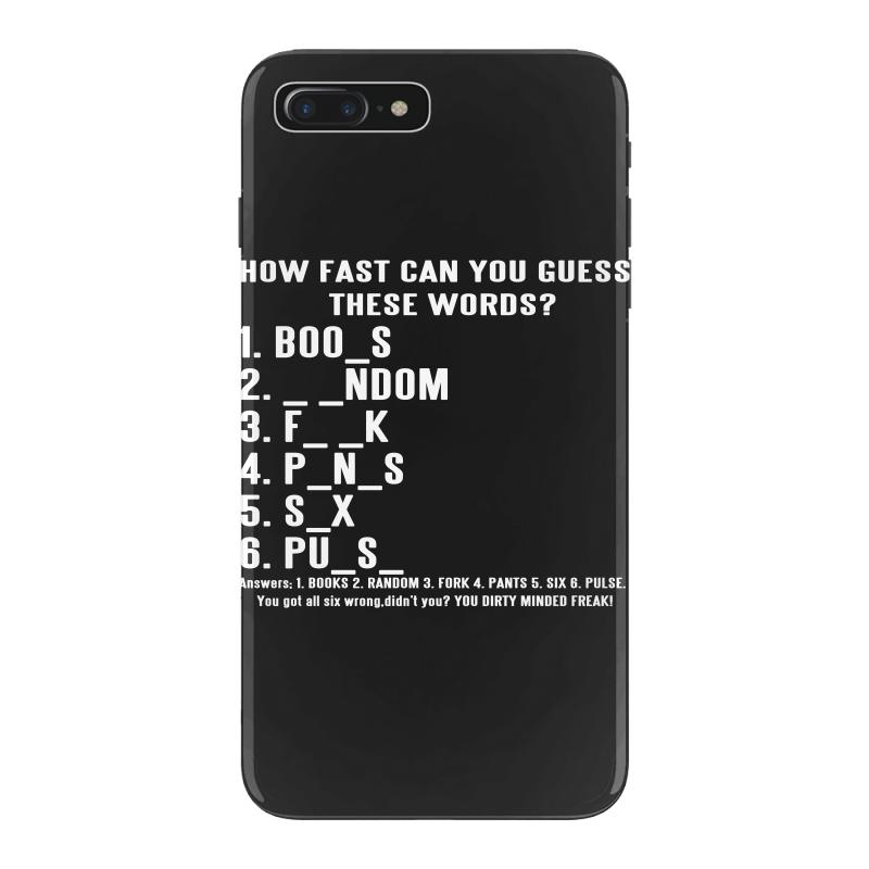 huge discount 74593 03f26 How Fast Can You Guess These Words Iphone 7 Plus Case. By Artistshot