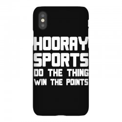 hooray sports do the thing win the points iPhoneX Case | Artistshot