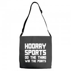 hooray sports do the thing win the points Adjustable Strap Totes | Artistshot