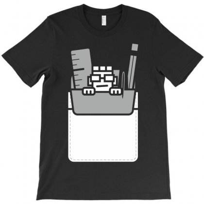Nerd In Pocket T-shirt Designed By Rendratedjo