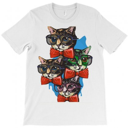 Nerd Cat Graphic T-shirt Designed By Rendratedjo