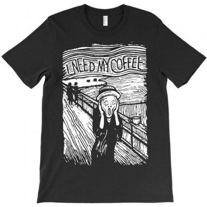 Scream For Coffee T-shirt Designed By Rendratedjo