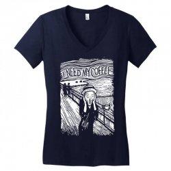 scream for coffee Women's V-Neck T-Shirt | Artistshot