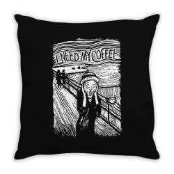 scream for coffee Throw Pillow | Artistshot