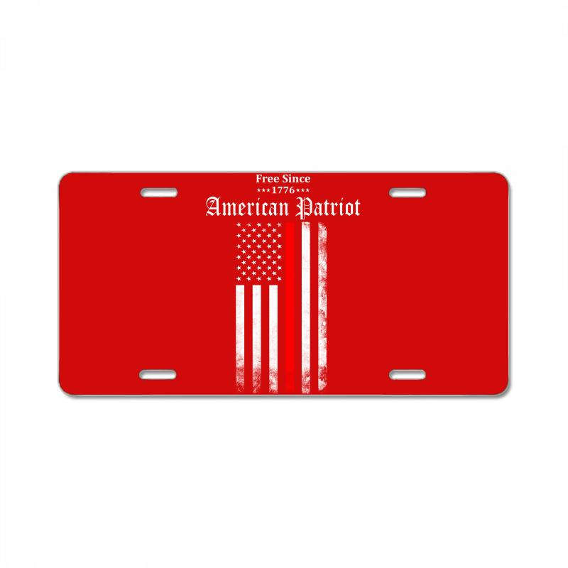 Free Since 1776 - American Patriot License Plate  By Artistshot