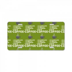 Facts Of Coffee License Plate | Artistshot