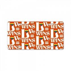 Love Wins License Plate | Artistshot