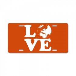 Love World License Plate | Artistshot