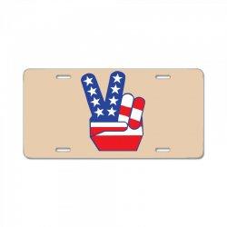 Peace Sign Hand License Plate | Artistshot