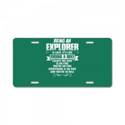 being an explorer License Plate | Artistshot