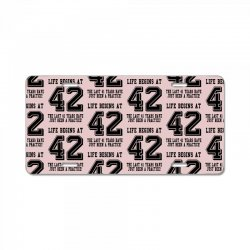 42nd birthday life begins at 42 License Plate | Artistshot