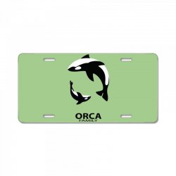 ORCA FAMILY License Plate | Artistshot