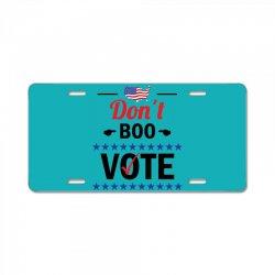 Dont Boo. Vote. License Plate   Artistshot