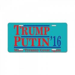 trump putin 2016 License Plate   Artistshot