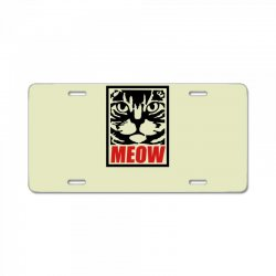 funny cat meow License Plate | Artistshot